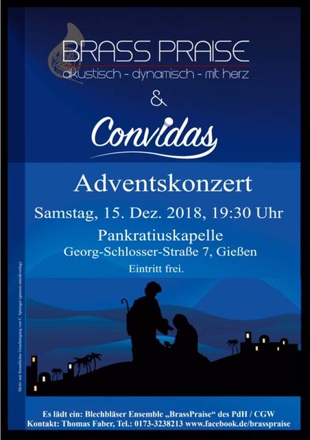 Adventskonzert 2018 BrassPraise und Convidas